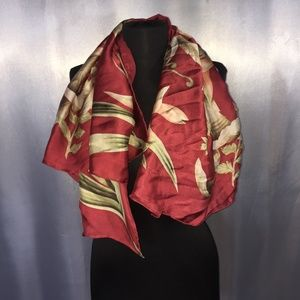 Tommy Bahama tropical leaf printed silk scarf